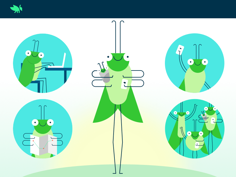 Grasshopper Illustrations