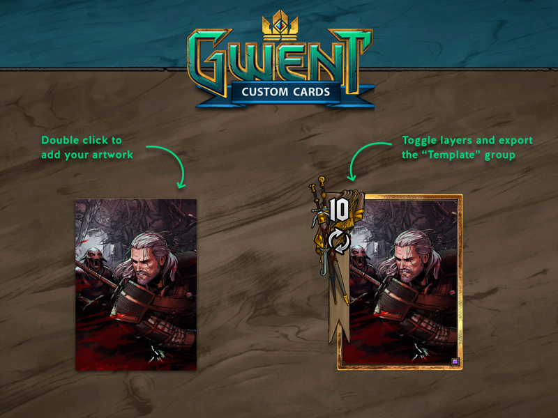 Gwent Custom Cards Template