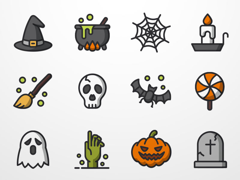 halloween icon set - Show Me Halloween Pictures