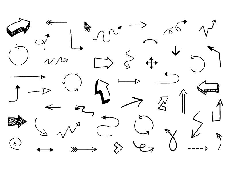 46 Hand Drawn Arrows Sketch Freebie Download Free