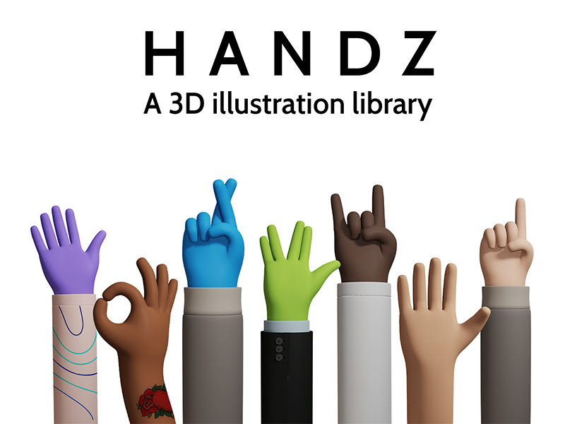 3D Hand Gestures Library