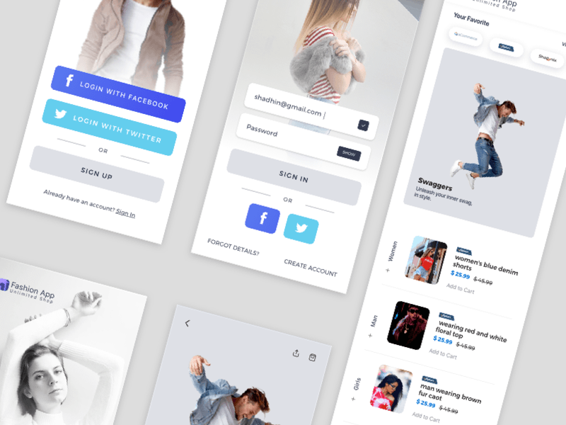 Fashion Shop App UI
