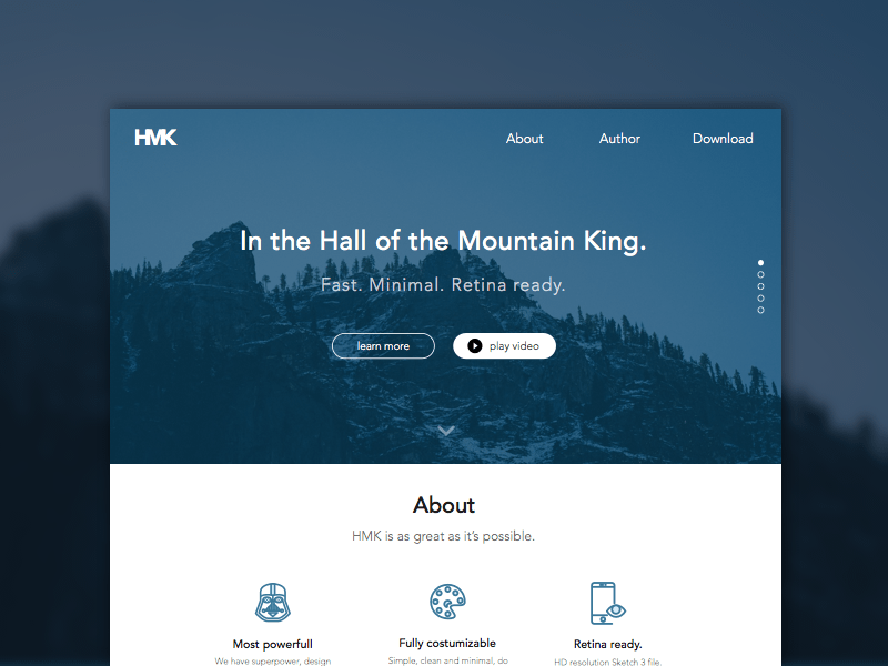 hmk website template sketch freebie