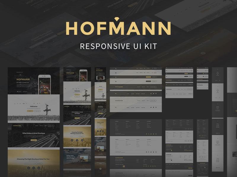 Hofmann Responsive UI Kit Sketch freebie - Download free