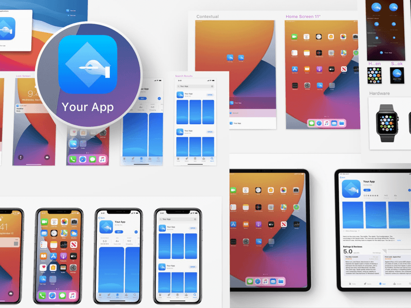iOS 14 App Icon Template