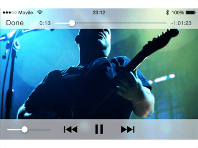 iPhone iOS 7 Video Player