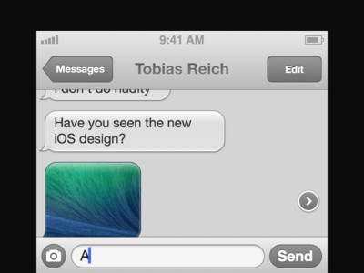 iOS 7 UI kit Messages