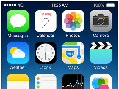 iOS7 - Homescreen Template