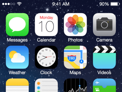 iOS7 home screen UI Kit