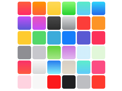 iOS 7 colors