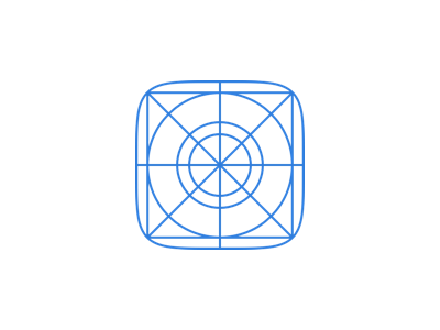 iOS7 Icon Grid