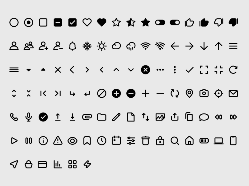 Set of 100 Unified Icons