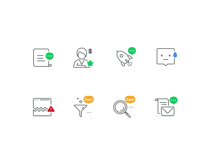 8 Empty State Icons