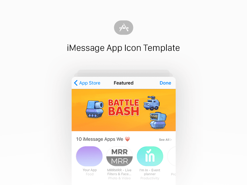 iMessage App Icon Template Sketch freebie - Download free
