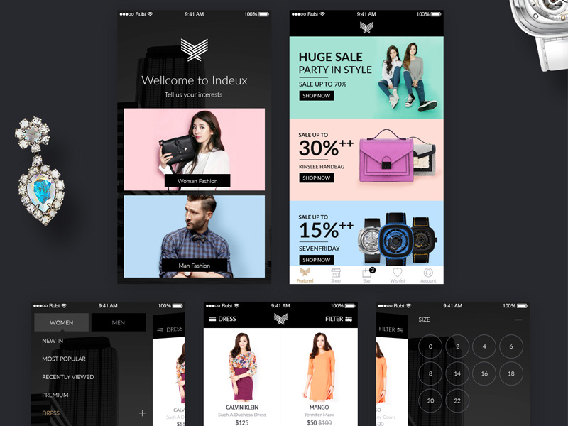 ECommerce UI Kit Web Template Shopping Cart Free Resources For - Free ecommerce website templates shopping cart