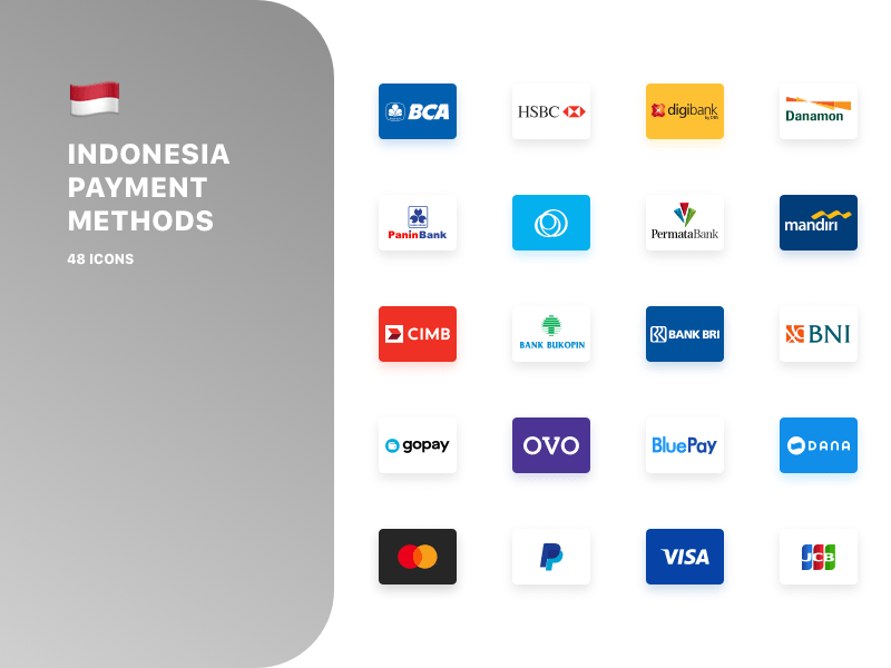 Indonesian Payment Method Logos