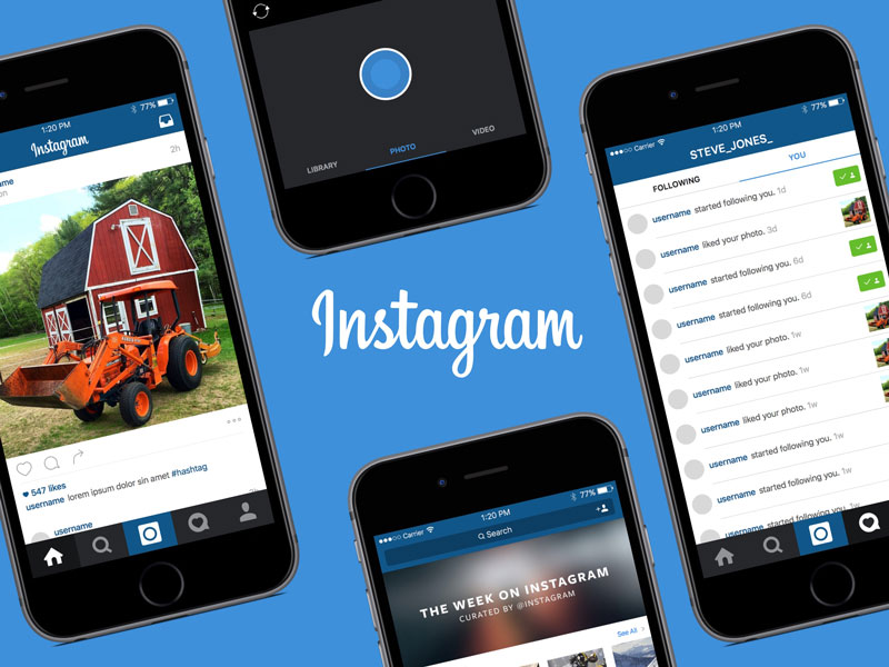 Instagram Template Ios Ui Kit Sketch Freebie Download Free