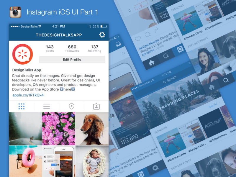 Instagram Ios Ui Kit Sketch Freebie Download Free Resource For