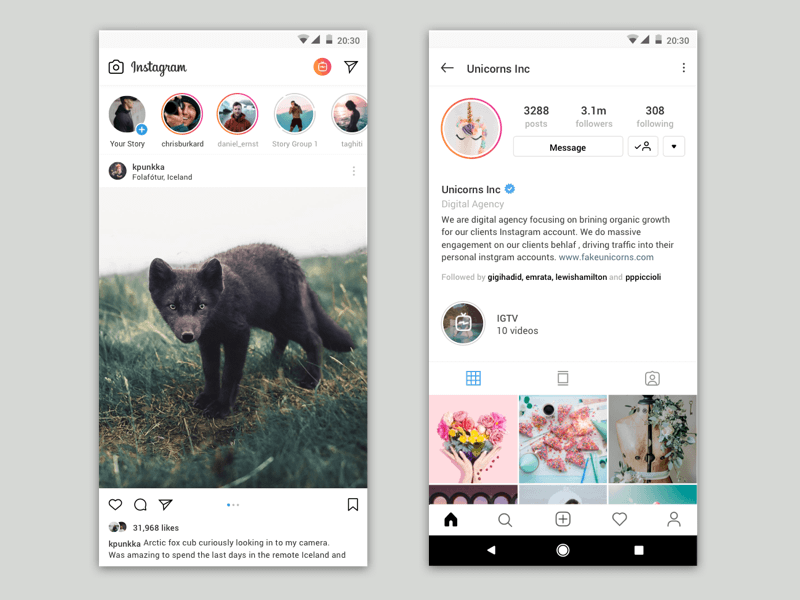 Instagram Stories Concept