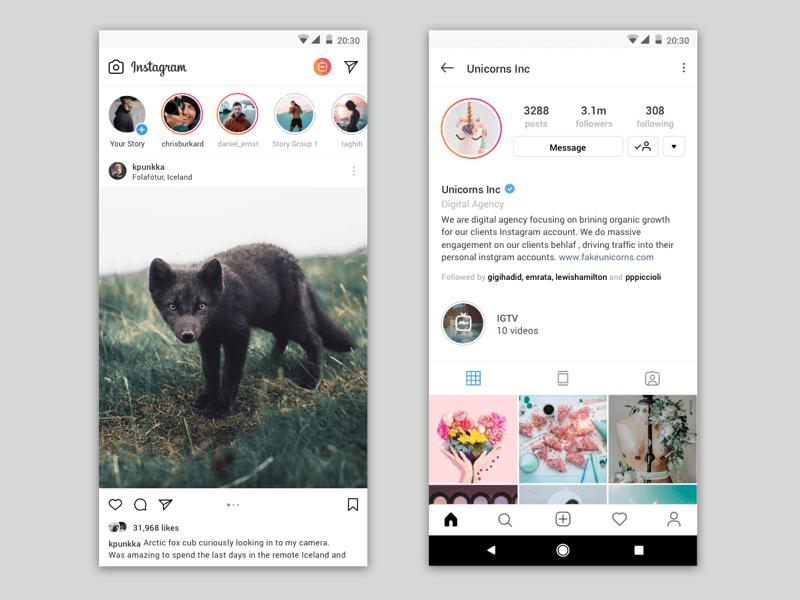 Instagram Stories Concept Sketch freebie - Download free resource