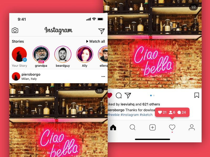 Instagram iPhone X UI