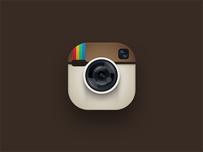 Not So Flat Instagram Sketch Icon