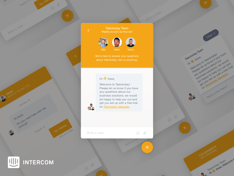 Intercom Messenger UI