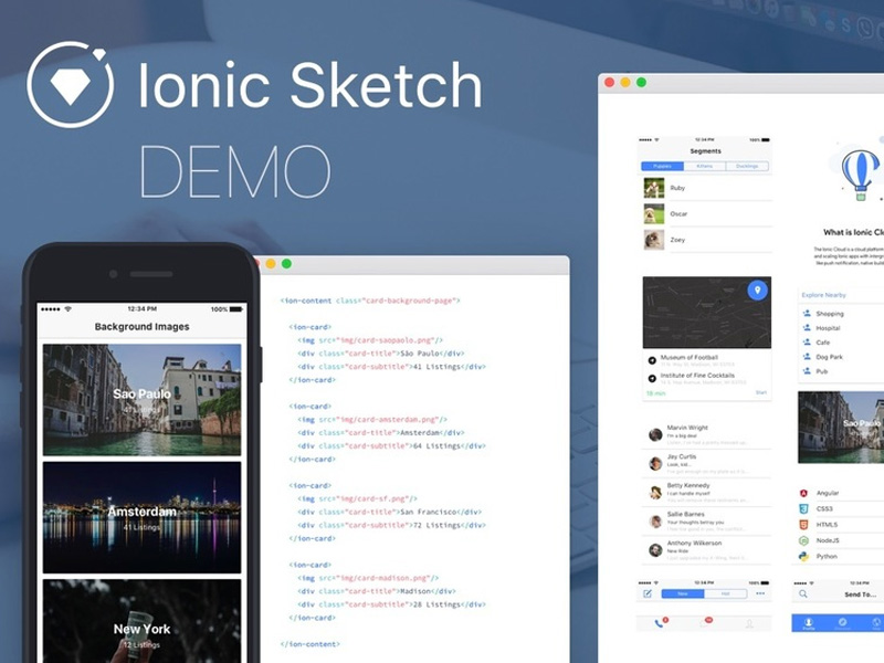 Ionic Sketch UI Template