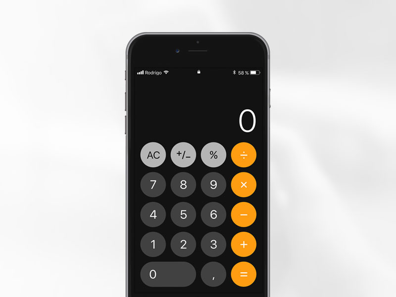 Calculator icon on iphone