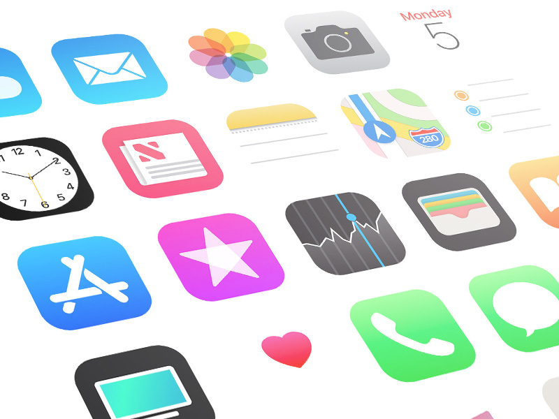 iOS 11 App Icons Sketch freebie - Download free resource for Sketch