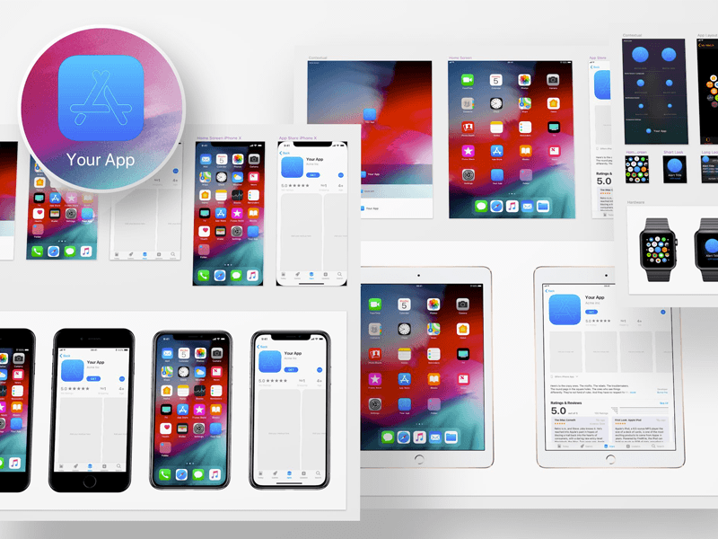 iOS 12 App Icon Template