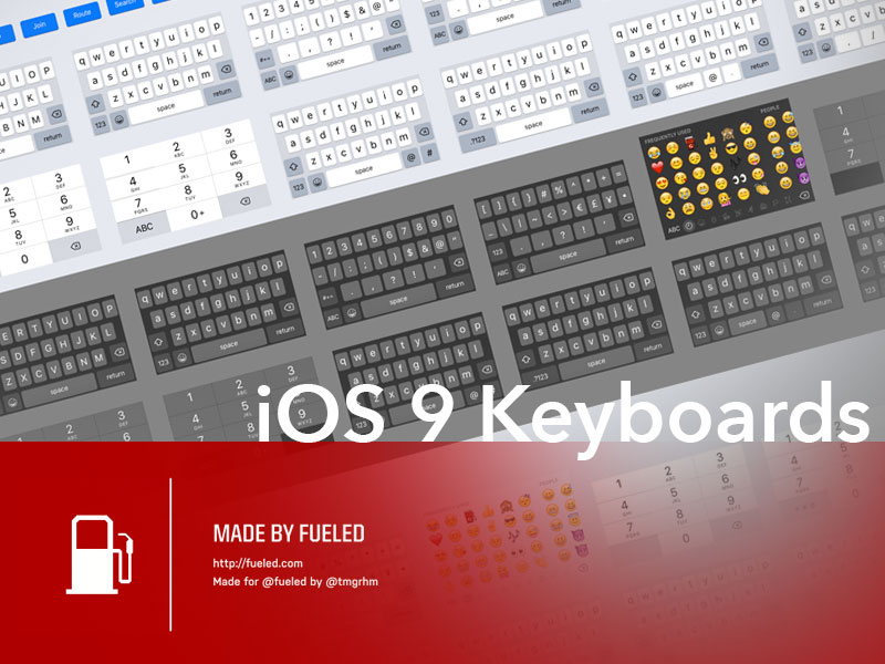 Ultimate iOS 9 Keyboard Kit