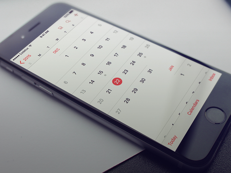Ios Calendar Template Landscape Portrait Sketch Freebie Download