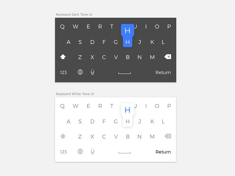 iOS Dark and Light Keyboard