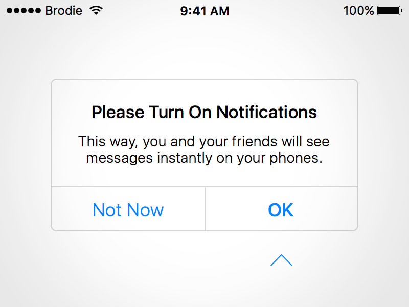 iOS Permission Request Prompt