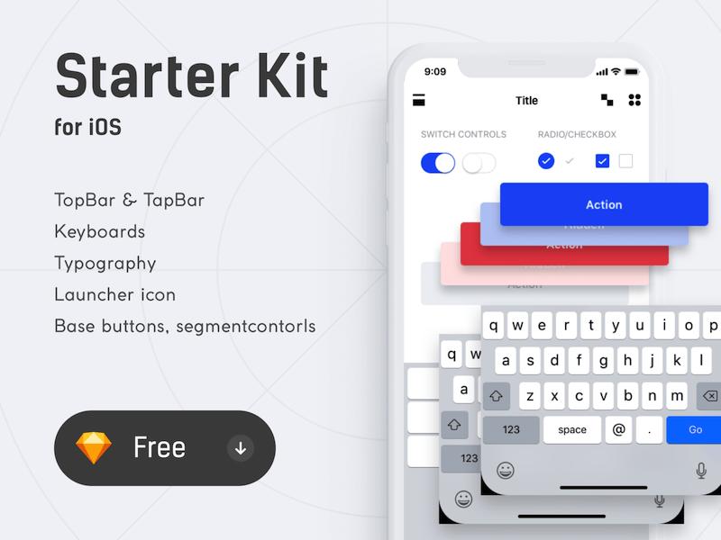 iOS Starker Kit Sketch freebie - Download free resource for