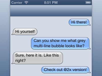 iMessage bubbles