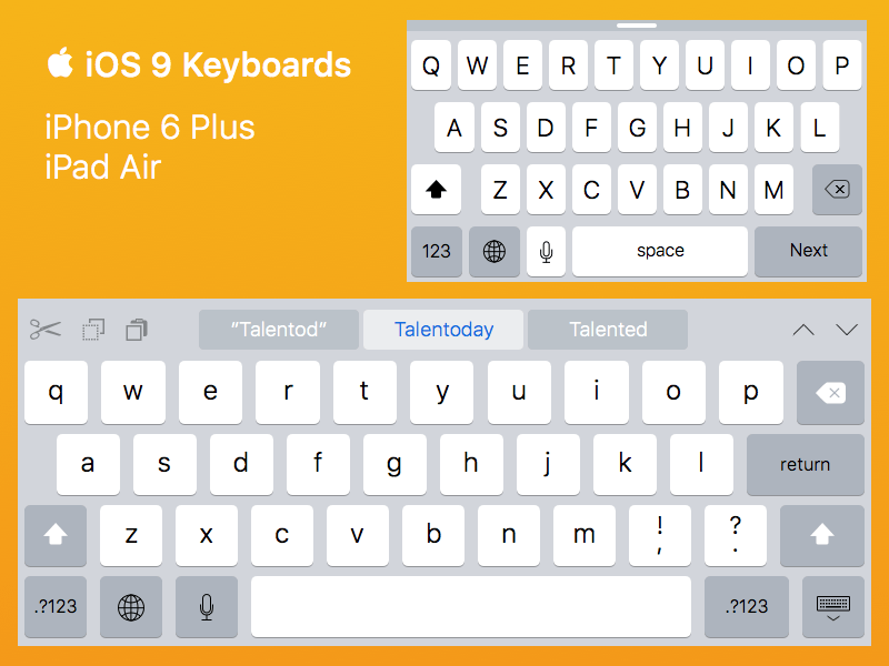 iOS 9 Keyboards for iPhone 6 Plus