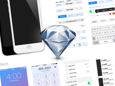 iOS 7 UI Kit Light