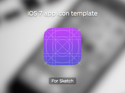 IOS 7 App Icon Template Sketch Resource