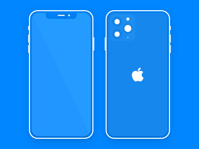 Flat and Minimal iPhone 11 Pro Mockup