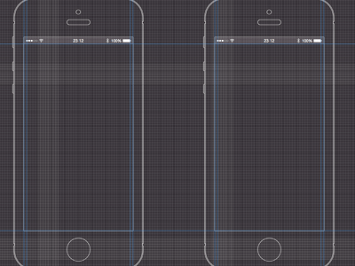 iPhone 5 Black Wireframe Template