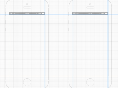 iPhone 5 White Wireframe Template
