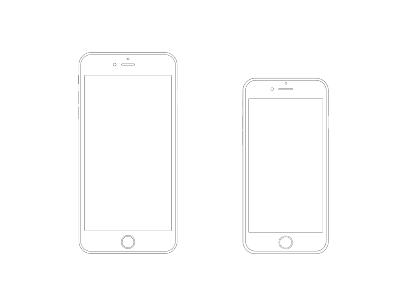 IPhone UI Kit IPhone 6 GUI 6 Plus Mockup Templates Free Resources For Sketch - Sketch App ...