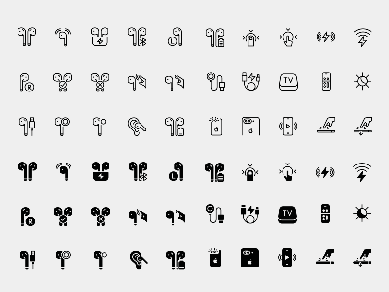 AirPods and iPhone 7 Icons