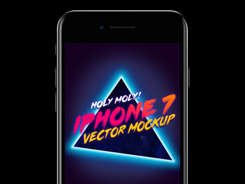 iPhone 7 Vector Mockup
