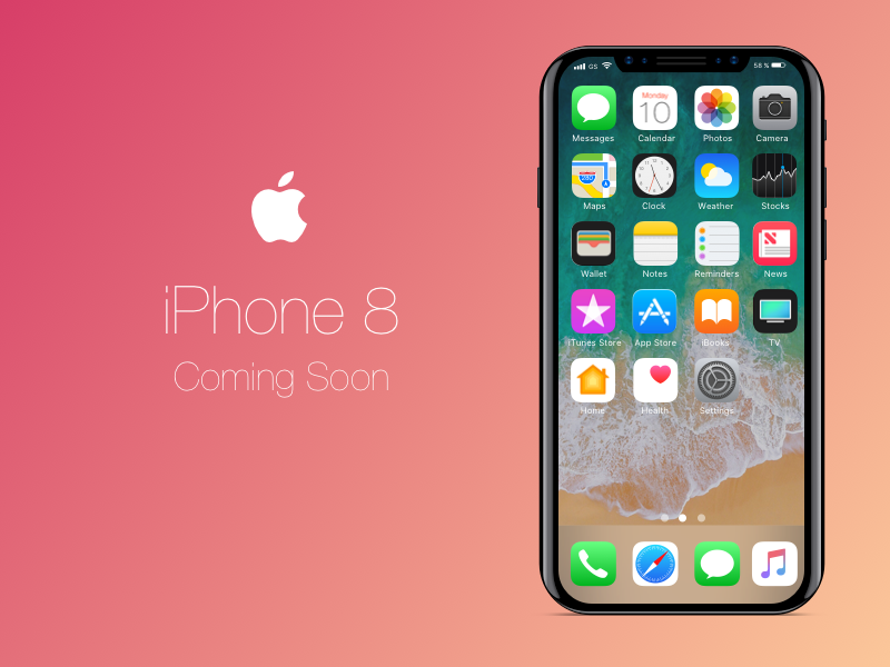 iPhone 8 Concept Mockup