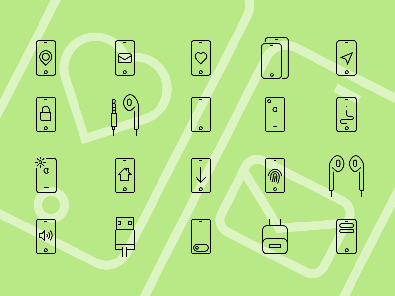 iPhone Icons Collection