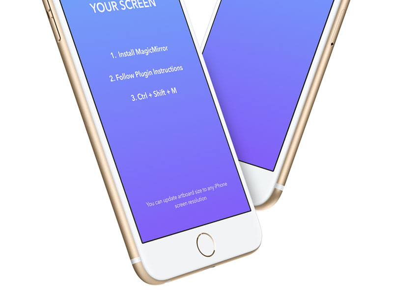 iPhone Templates for Magic Mirror