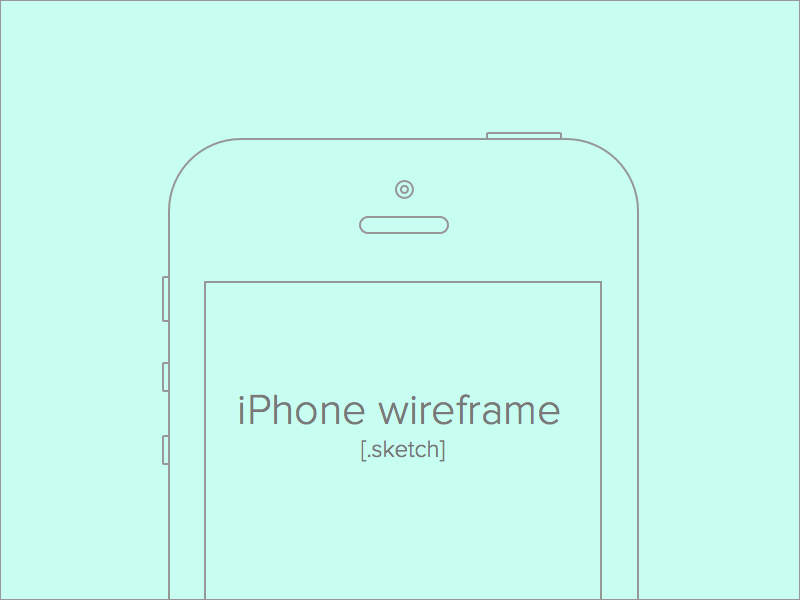 Apple IPhone Wireframe Sketch Freebie - Download Free Resource For Sketch - Sketch App Sources